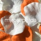 Petals - 200 Wedding Silk Rose Flower Petals Wedding Favors - Orange & White