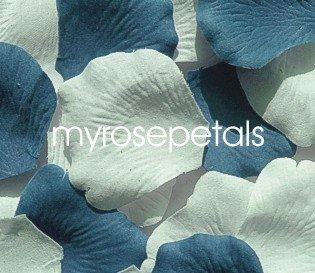 Petals - 200 Wedding Silk Rose Flower Petals Wedding Favors - Periwinkle & White