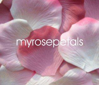 Petals - 200 Wedding Silk Rose Flower Petals Wedding Favors - Dusty Rose & White/Pink