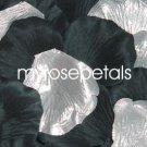 Petals - 200 Wedding Silk Rose Flower Petals Wedding Favors - Silver & Black