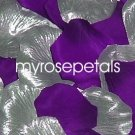 Petals - 200 Wedding Silk Rose Flower Petals Wedding Favors - Silver & Purple