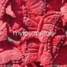 Petals - 200 Butterfly Shaped Silk Rose Petals - Wedding Favors - Red