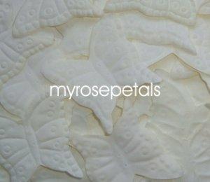 Petals - 1000 Butterfly Shaped Silk Rose Flower Petals Wedding Favors - Ivory