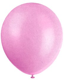 "Balloons - 12"" Latex Balloons - 144/Bag - Birthday Party/Wedding Celebration - Pink"