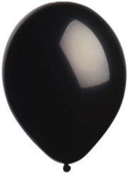 "Balloons - 12"" Latex Pearlized Balloons - 144/Bag - Party/Wedding -  Black"