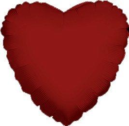"12 Mylar/Foil Balloons Lot Wedding/Party-Heart- 18"" - Burgundy"