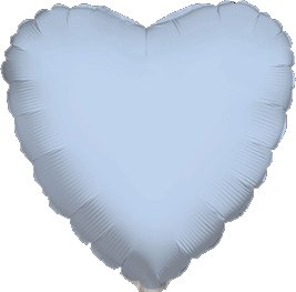 "12 Mylar/Foil Balloons Lot Wedding/Party-Heart- 18"" - Baby Blue"