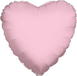 "12 Mylar/Foil Balloons Lot Wedding/Party-Heart- 18"" - Pink"