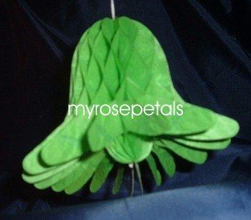 "Honeycomb Bells - Bridal/Wedding/Anniversary Decor - 3"" (6 count) - Green"