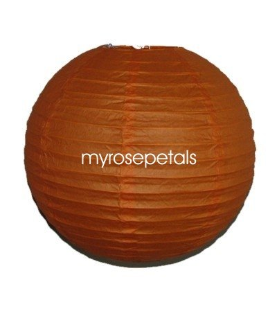 "Party Paper Lantern-Round 12""-Luau Supplies- Oriental/Chinese Lamps - Orange"
