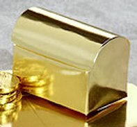 Favor Boxes: 12 Gold Treasure Chest Favor Boxes - Wedding Favors - Shower - Gifts
