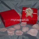 "Glossy Favor Boxes - 4""x 4"" x 2"" Red - (25 pcs) Wedding/Shower/Party Favors"