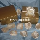 "Glossy Favor Boxes - 4""x 4"" x 2"" Gold - (50 pcs) Wedding/Shower/Party Favors"