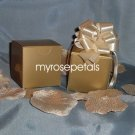 "Glossy Favor Boxes - 2""x 2"" x 2"" Gold - (10 pcs) Wedding/Shower/Party Favors"