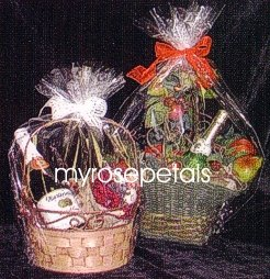 "Clear Cello/Cellophane Bags - Basket Bags - 50 Bags FLAT - 14"" x 18"" Gift Basket Supplies"