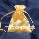 "Satin Wedding Favor Bags/Pouches - 3""x4"" - Gold (10 Bags)"