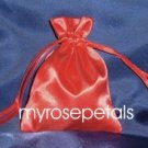 "Satin Wedding Favor Bags/Pouches - 3""x4"" - Red (10 Bags)"