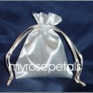 "Satin Wedding Favor Bags/Pouches - 3""x4"" - Ivory (10 Bags)"
