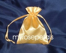 "Satin Wedding Favor Bags/Pouches - 4""x6"" - Gold (10 Bags)"