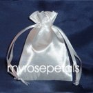 "Satin Wedding Favor Bags/Pouches - 4""x6"" - White (10 Bags)"