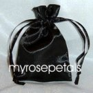 "Satin Wedding Favor Bags/Pouches - 4""x6"" - Black (10 Bags)"