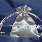 "Satin Wedding Favor Bags/Pouches - 4""x6"" - Silver (10 Bags)"