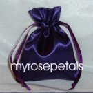 "Satin Wedding Favor Bags/Pouches - 4""x6"" - Purple (10 Bags)"