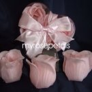 Scented Rose Shaped Soaps in Heart Box - Pink (Set of 12)- with Satin Ribbon- Wedding Favors
