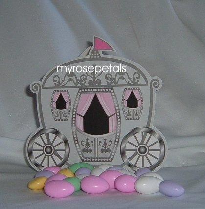 Favor Boxes - Princess Carriage Design - (50 pcs) Wedding/Shower/Party Favors