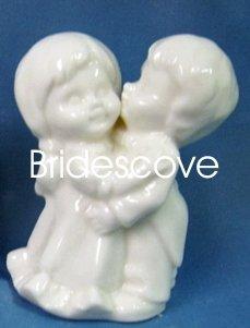 Porcelain Wedding Bride and Groom Cake Topper - Wedding Decoration / Gift - (HS90326A)