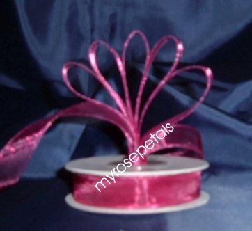 "Sheer Organza Ribbon Mono Edge - 5/8"" - 25 Yards (75 FT) - Burgundy"