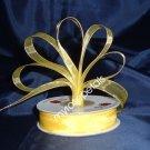"""Sheer Organza Ribbon Mono Edge - 5/8"""" - 25 Yards (75 FT) - Yellow"""