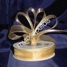 """Sheer Organza Ribbon Mono Edge - 5/8"""" - 25 Yards (75 FT) - Gold"""
