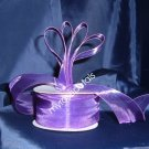 "Sheer Organza Ribbon Mono Edge - 1.5"" - 25 Yards (75 FT) - Purple"