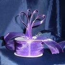 "Sheer Organza Ribbon Mono Edge - 1.5"" - 25 Yards (75 FT) - Purple"