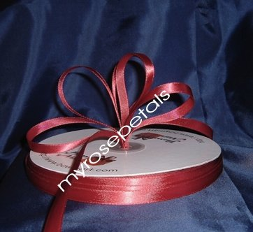 "Ribbon - Satin Ribbon- 3/8"" Single Face 100 Yards (300 FT) - Burgundy-Sewing- Craft - Wedding Favors"