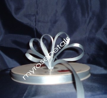 "Ribbon - Satin Ribbon- 3/8"" Single Face 100 Yards (300 FT) - Dusty Blue-Sewing- Craft-Wedding Favors"