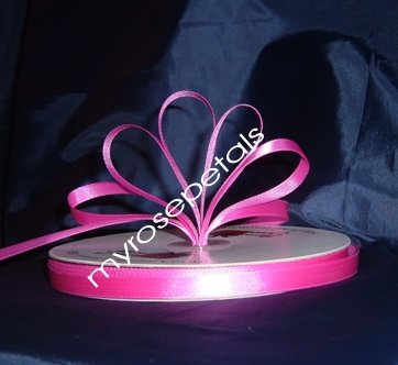 """Ribbon - Satin Ribbon- 3/8"""" Single Face 100 Yards (300 FT) - Hot Pink -Sewing- Craft-Wedding Favors"""