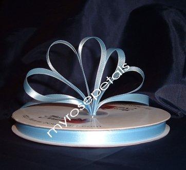"Ribbon - Satin Ribbon- 3/8"" Single Face 100 Yards (300 FT) -Light Blue-Sewing-Craft -Wedding Favors"