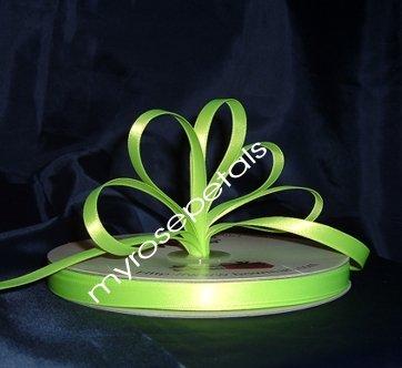 "Ribbon - Satin Ribbon- 3/8"" Single Face 100 Yards (300 FT) -Lime Green-Sewing-Craft -Wedding Favors"