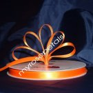 "Ribbon - Satin Ribbon- 3/8"" Single Face 100 Yards (300 FT) -Orange-Sewing-Craft -Wedding Favors"
