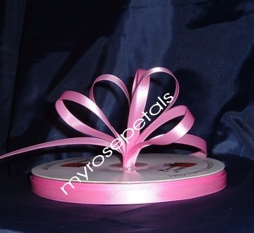 "Ribbon - Satin Ribbon- 3/8"" Single Face 100 Yards (300 FT) -Pink - Sewing-Craft -Wedding Favors"