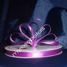 "Ribbon - Satin Ribbon- 3/8"" Single Face 100 Yards (300 FT) - Purple - Sewing-Craft -Wedding Favors"