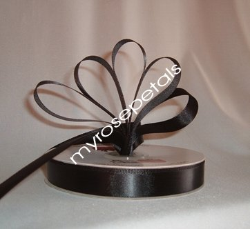 "Ribbon - Satin Ribbon- 5/8"" Single Face 50 Yards (150 FT) - Black - Sewing - Craft - Wedding Favors"