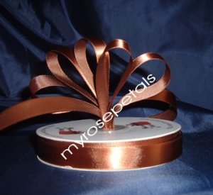 "Ribbon - Satin Ribbon- 5/8"" Single Face 50 Yards (150 FT) - Brown - Sewing - Craft - Wedding Favors"
