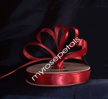 "Ribbon - Satin Ribbon- 5/8"" Single Face 50 Yards (150 FT) - Burgundy-Sewing-Craft - Wedding Favors"