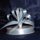 "Ribbon - Satin Ribbon- 5/8"" Single Face 50 Yards (150 FT) - Dusty Blue-Sewing-Craft- Wedding Favors"