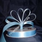 "Ribbon - Satin Ribbon- 5/8"" Single Face 50 Yards (150 FT) - Light Blue-Sewing-Craft- Wedding Favors"