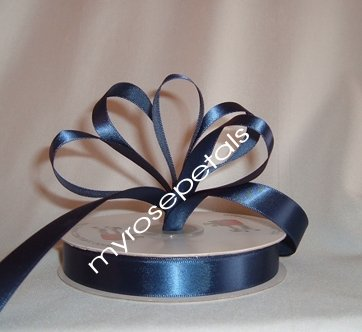 "Ribbon - Satin Ribbon- 5/8"" Single Face 50 Yards (150 FT) - Navy Blue-Sewing-Craft- Wedding Favors"