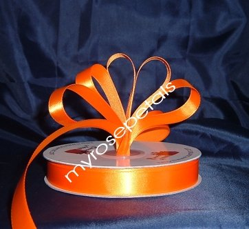 "Ribbon - Satin Ribbon- 5/8"" Single Face 50 Yards (150 FT) - Orange-Sewing-Craft- Wedding Favors"